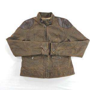 Ralph Lauren LRL Leather Trim Stretch Jacket